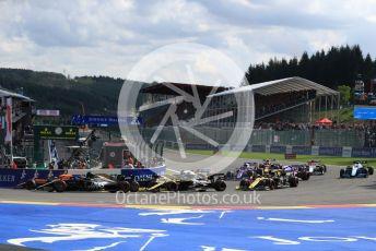 World © Octane Photographic Ltd. Formula 1 – Belgium GP - Race. Rich Energy Haas F1 Team VF19 – Kevin Magnussen. Circuit de Spa Francorchamps, Belgium. Sunday 1st September 2019.