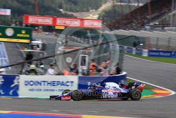 World © Octane Photographic Ltd. Formula 1 – Belgium GP - Race. Scuderia Toro Rosso STR14 – Daniil Kvyat. Circuit de Spa Francorchamps, Belgium. Sunday 1st September 2019.