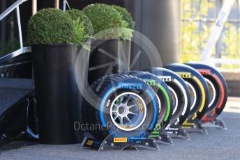 World © Octane Photographic Ltd. Formula 1 – Belgium GP - Paddock. Pirelli tyre selection. Circuit de Spa Francorchamps, Belgium. Friday 30th August 2019.