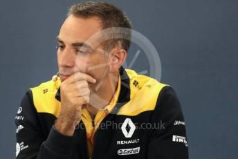 World © Octane Photographic Ltd. Formula 1 - Hungarian GP – Friday FIA Team Press Conference. Cyril Abiteboul - Managing Director of Renault Sport Racing Formula 1 Team. Circuit de Spa Francorchamps, Belgium. Friday 29th August 2019.