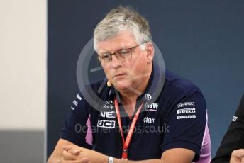 World © Octane Photographic Ltd. Formula 1 - Hungarian GP – Friday FIA Team Press Conference. Otmar Szafnauer - Team Principal of SportPesa Racing Point. Circuit de Spa Francorchamps, Belgium. Friday 29th August 2019.