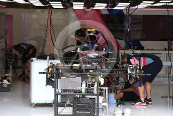 World © Octane Photographic Ltd. Formula 1 – Belgium GP - Pit Lane. SportPesa Racing Point RP19. Circuit de Spa Francorchamps, Belgium. Thursday 28th August 2019.