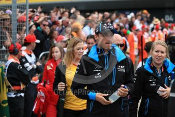 World © Octane Photographic Ltd. Formula 1 – British GP - Drivers Parade. ROKiT Williams Racing FW42 – Robert Kubica. Silverstone Circuit, Towcester, Northamptonshire. Sunday 14th July 2019.