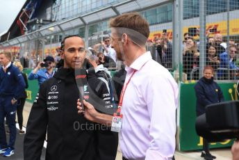 World © Octane Photographic Ltd. Formula 1 – British GP - Drivers Parade. Mercedes AMG Petronas Motorsport AMG F1 W10 EQ Power+ - Lewis Hamilton. Silverstone Circuit, Towcester, Northamptonshire. Sunday 14th July 2019.