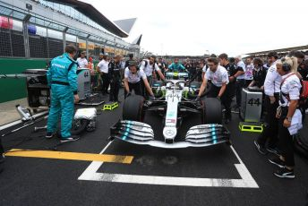 World © Octane Photographic Ltd. Formula 1 – British GP - Grid. Mercedes AMG Petronas Motorsport AMG F1 W10 EQ Power+ - Lewis Hamilton. Silverstone Circuit, Towcester, Northamptonshire. Sunday 14th July 2019