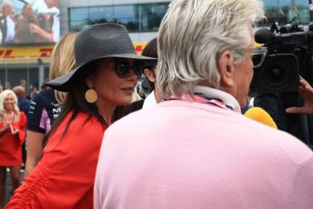 World © Octane Photographic Ltd. Formula 1 – British GP - Grid. Catherine Zeta-Jones. Silverstone Circuit, Towcester, Northamptonshire. Sunday 14th July 2019.