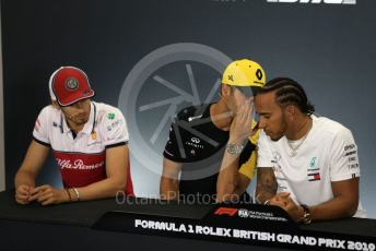 World © Octane Photographic Ltd. Formula 1 – British GP. FIA Drivers Press Conference. Mercedes AMG Petronas Motorsport - Lewis Hamilton and Renault Sport F1 Team – Daniel Ricciardo. Silverstone Circuit, Towcester, Northamptonshire. Thursday 11th July 2019.