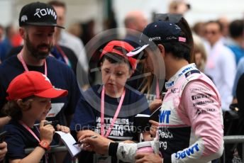 World © Octane Photographic Ltd. Formula 1 – British GP - Qualifying. SportPesa Racing Point RP19 - Sergio Perez. Silverstone Circuit, Towcester, Northamptonshire. Saturday 13th July 2019.