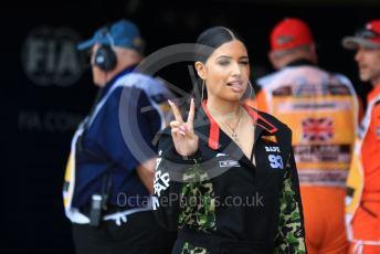 World © Octane Photographic Ltd. Formula 1 – British GP - Qualifying. Pirelli Representative, pop star Mabel McVey. Silverstone Circuit, Towcester, Northamptonshire. Saturday 13th July 2019.
