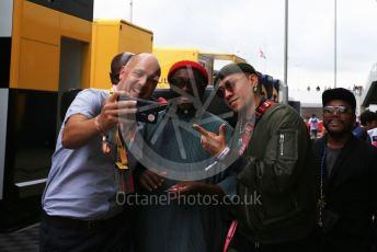World © Octane Photographic Ltd. Formula 1 – British GP - Qualifying. Will.I.AM . Silverstone Circuit, Towcester, Northamptonshire. Saturday 13th July 2019.