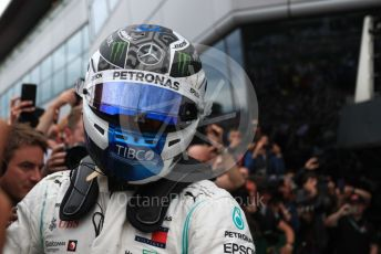 World © Octane Photographic Ltd. Formula 1 – British GP - Race - Podium. Mercedes AMG Petronas Motorsport AMG F1 W10 EQ Power+ - Valtteri Bottas. Silverstone Circuit, Towcester, Northamptonshire. Sunday 14th July 2019.