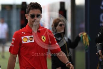 World © Octane Photographic Ltd. Formula 1 – British GP - Paddock. Scuderia Ferrari SF90 – Charles Leclerc. Silverstone Circuit, Towcester, Northamptonshire. Friday 12th July 2019.