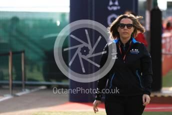 World © Octane Photographic Ltd. Formula 1 - British GP - Paddock. Claire Williams - Deputy Team Principal of ROKiT Williams Racing. Silverstone Circuit, Towcester, Northamptonshire. Friday 12th July 2019.