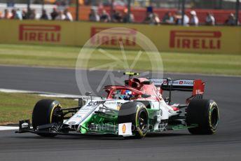 World © Octane Photographic Ltd. Formula 1 – British GP - Practice 1. Alfa Romeo Racing C38 – Antonio Giovinazzi. Silverstone Circuit, Towcester, Northamptonshire. Friday 12th July 2019.