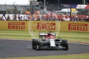 World © Octane Photographic Ltd. Formula 1 – British GP - Practice 1. Alfa Romeo Racing C38 – Kimi Raikkonen. Silverstone Circuit, Towcester, Northamptonshire. Friday 12th July 2019.