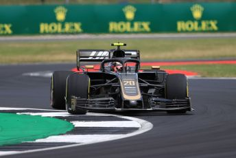 World © Octane Photographic Ltd. Formula 1 – British GP - Practice 2. Rich Energy Haas F1 Team VF19 – Kevin Magnussen. Silverstone Circuit, Towcester, Northamptonshire. Friday 12th July 2019.