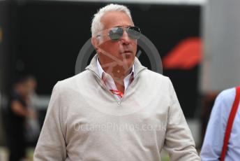World © Octane Photographic Ltd. Formula 1 - British GP - Paddock. Lance Stroll father Lawrence Stroll - investor, part-owner of SportPesa Racing Point. Silverstone Circuit, Towcester, Northamptonshire. Saturday 13th July 2019.