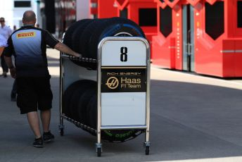 World © Octane Photographic Ltd. Formula 1 – British GP - Paddock. Rich Energy Haas F1 Team. Silverstone Circuit, Towcester, Northamptonshire. Thursday 11th July 2019.