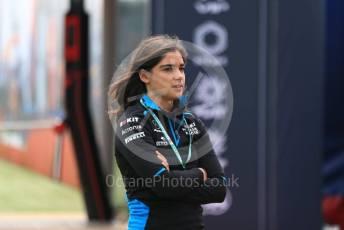World © Octane Photographic Ltd. Formula 1 - British GP - Paddock. Jamie Chadwick - ROKiT Williams Racing Development Driver. Silverstone Circuit, Towcester, Northamptonshire. Thursday 11th July 2019.