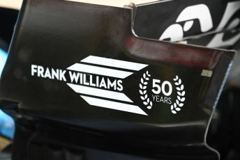 World © Octane Photographic Ltd. Formula 1 – British GP - Pit Lane. ROKiT Williams Racing FW 42 -Frank Williams 50 years.  Silverstone Circuit, Towcester, Northamptonshire. Thursday 11th July 2019.