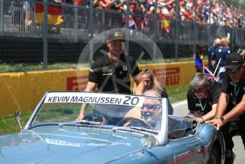 World © Octane Photographic Ltd. Formula 1 – Canadian GP. Drivers' parade. Rich Energy Haas F1 Team VF19 – Kevin Magnussen. Circuit de Gilles Villeneuve, Montreal, Canada. Sunday 9th June 2019.