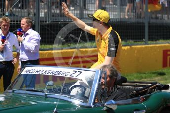 World © Octane Photographic Ltd. Formula 1 – Canadian GP. Drivers' parade. Renault Sport F1 Team RS19 – Nico Hulkenberg. Circuit de Gilles Villeneuve, Montreal, Canada. Sunday 9th June 2019.