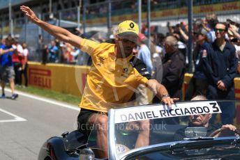 World © Octane Photographic Ltd. Formula 1 – Canadian GP. Drivers' parade. Renault Sport F1 Team RS19 – Daniel Ricciardo. Circuit de Gilles Villeneuve, Montreal, Canada. Sunday 9th June 2019.