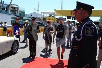 World © Octane Photographic Ltd. Formula 1 – Canadian GP. Drivers' parade. ROKiT Williams Racing FW 42 – George Russell and McLaren MCL34 – Lando Norris. Circuit de Gilles Villeneuve, Montreal, Canada. Sunday 9th June 2019.