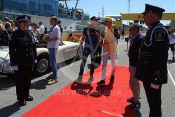 World © Octane Photographic Ltd. Formula 1 – Canadian GP. Drivers' parade. Scuderia Toro Rosso STR14 – Daniil Kvyat and Renault Sport F1 Team RS19 – Nico Hulkenberg. Circuit de Gilles Villeneuve, Montreal, Canada. Sunday 9th June 2019.
