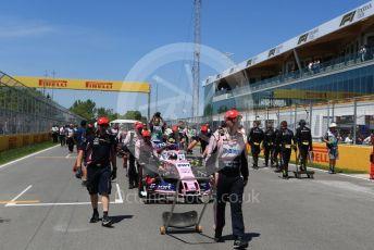 World © Octane Photographic Ltd. Formula 1 – Canadian GP. Grid. SportPesa Racing Point RP19 – Lance Stroll. Circuit de Gilles Villeneuve, Montreal, Canada. Sunday 9th June 2019.