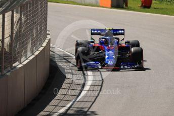 World © Octane Photographic Ltd. Formula 1 – Canadian GP. Practice 1. Scuderia Toro Rosso STR14 – Alexander Albon. Circuit de Gilles Villeneuve, Montreal, Canada. Friday 7th June 2019.