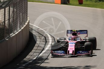 World © Octane Photographic Ltd. Formula 1 – Canadian GP. Practice 1. SportPesa Racing Point RP19 – Lance Stroll. Circuit de Gilles Villeneuve, Montreal, Canada. Friday 7th June 2019.
