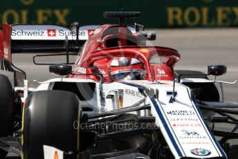 World © Octane Photographic Ltd. Formula 1 – Canadian GP. Practice 2. Alfa Romeo Racing C38 – Kimi Raikkonen. Circuit de Gilles Villeneuve, Montreal, Canada. Friday 7th June 2019.