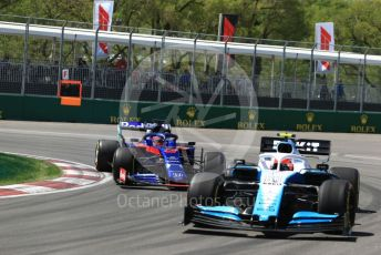World © Octane Photographic Ltd. Formula 1 – Canadian GP. Practice 2. ROKiT Williams Racing FW42 – Robert Kubica and Scuderia Toro Rosso STR14 – Daniil Kvyat. Circuit de Gilles Villeneuve, Montreal, Canada. Friday 7th June 2019.