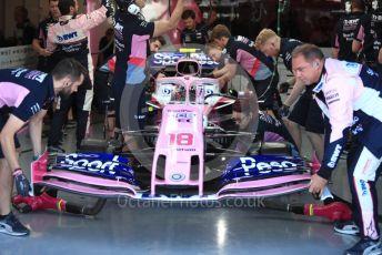 World © Octane Photographic Ltd. Formula 1 – Canadian GP. Practice 3. SportPesa Racing Point RP19 – Lance Stroll. Circuit de Gilles Villeneuve, Montreal, Canada. Saturday 8th June 2019.