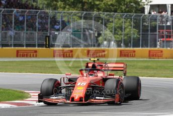 World © Octane Photographic Ltd. Formula 1 – Canadian GP. Qualifying. Scuderia Ferrari SF90 – Charles Leclerc. Circuit de Gilles Villeneuve, Montreal, Canada. Saturday 8th June 2019.
