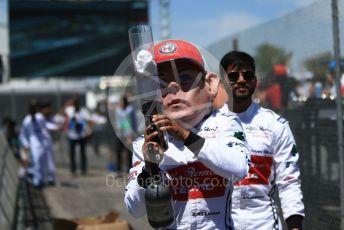 World © Octane Photographic Ltd. Formula 1 – Canadian GP. Qualifying. Alfa Romeo Racing C38 – Kimi Raikkonen mannequin. Circuit de Gilles Villeneuve, Montreal, Canada. Saturday 8th June 2019.
