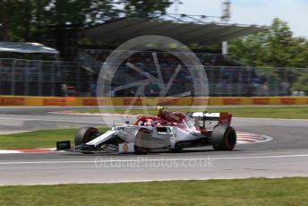 World © Octane Photographic Ltd. Formula 1 – Canadian GP. Qualifying. Alfa Romeo Racing C38 – Antonio Giovinazzi. Circuit de Gilles Villeneuve, Montreal, Canada. Saturday 8th June 2019.