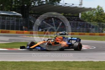 World © Octane Photographic Ltd. Formula 1 – Canadian GP. Qualifying. McLaren MCL34 – Lando Norris and Mercedes AMG Petronas Motorsport AMG F1 W10 EQ Power+ - Lewis Hamilton. Circuit de Gilles Villeneuve, Montreal, Canada. Saturday 8th June 2019.