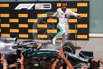 World © Octane Photographic Ltd. Formula 1 – Canadian GP. Parc Ferme. Mercedes AMG Petronas Motorsport AMG F1 W10 EQ Power+ - Lewis Hamilton. Circuit de Gilles Villeneuve, Montreal, Canada. Sunday 9th June 2019.