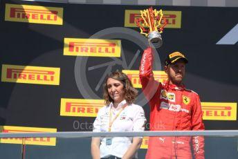 World © Octane Photographic Ltd. Formula 1 – Canadian GP. Podium. Scuderia Ferrari SF90 – Sebastian Vettel. Circuit de Gilles Villeneuve, Montreal, Canada. Sunday 9th June 2019.