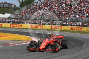 World © Octane Photographic Ltd. Formula 1 – Canadian GP. Race. Scuderia Ferrari SF90 – Charles Leclerc. Circuit de Gilles Villeneuve, Montreal, Canada. Sunday 9th June 2019.