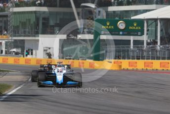 World © Octane Photographic Ltd. Formula 1 – Canadian GP. Race. ROKiT Williams Racing FW 42 – George Russell and Rich Energy Haas F1 Team VF19 – Kevin Magnussen. Circuit de Gilles Villeneuve, Montreal, Canada. Sunday 9th June 2019.