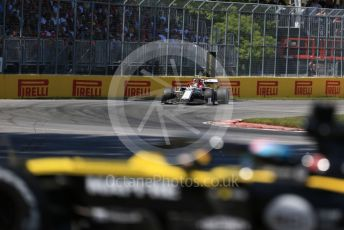 World © Octane Photographic Ltd. Formula 1 – Canadian GP. Race. Renault Sport F1 Team RS19 – Daniel Ricciardo and Alfa Romeo Racing C38 – Antonio Giovinazzi. Circuit de Gilles Villeneuve, Montreal, Canada. Sunday 9th June 2019.