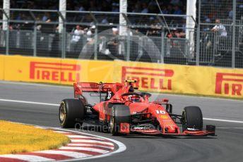 World © Octane Photographic Ltd. Formula 1 – Canadian GP. Race. Scuderia Ferrari SF90 – Charles Leclerc. Circuit de Gilles Villeneuve, Montreal, Canada. Sunday 9th June 2019.