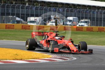 World © Octane Photographic Ltd. Formula 1 – Canadian GP. Race. Scuderia Ferrari SF90 – Sebastian Vettel. Circuit de Gilles Villeneuve, Montreal, Canada. Sunday 9th June 2019.