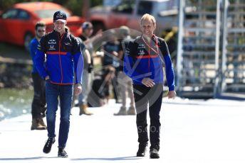 World © Octane Photographic Ltd. Formula 1 – Canadian GP. Paddock. Scuderia Toro Rosso STR14 – Daniil Kvyat. Circuit de Gilles Villeneuve, Montreal, Canada. Thursday 6th June 2019.