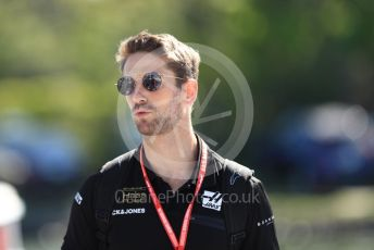 World © Octane Photographic Ltd. Formula 1 – Canadian GP. Paddock. Rich Energy Haas F1 Team VF19 – Romain Grosjean. Circuit de Gilles Villeneuve, Montreal, Canada. Saturday 8th June 2019.