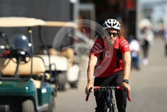 World © Octane Photographic Ltd. Formula 1 – Canadian GP. Paddock. Scuderia Ferrari SF90 – Sebastian Vettel. Circuit de Gilles Villeneuve, Montreal, Canada. Saturday 8th June 2019.