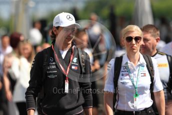 World © Octane Photographic Ltd. Formula 1 – Canadian GP. Paddock. Mercedes AMG Petronas Motorsport AMG F1 simulator and development driver- Esteban Gutierrez. Circuit de Gilles Villeneuve, Montreal, Canada. Sunday 9th June 2019.